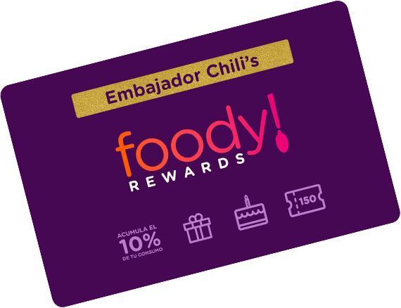 Foody Rewards: Menú especial de preapertura en Chili's Plaza Cumbres Monterrey completamente gratis