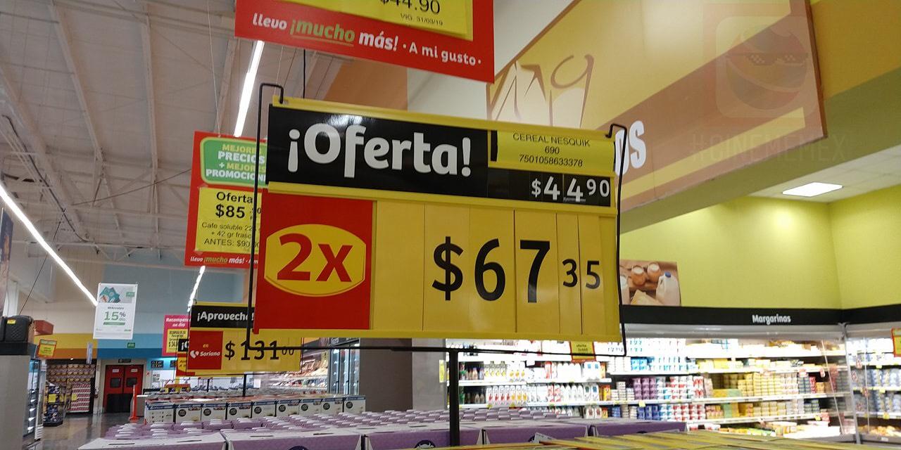 Soriana: Dos cajas de cereal Nesquik más dos boletos para Cinemex por $67