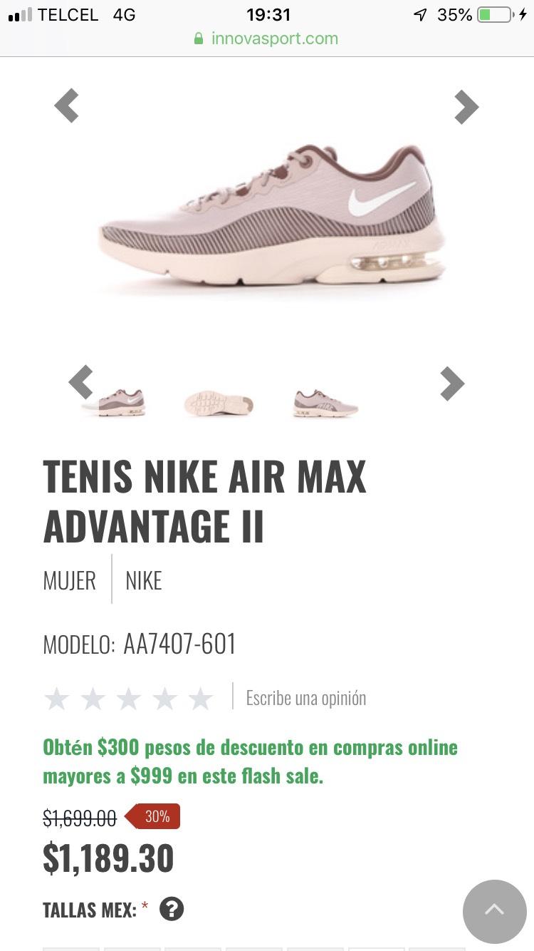 Innovasport: Tenis Nike Air Max Advantage II mujer