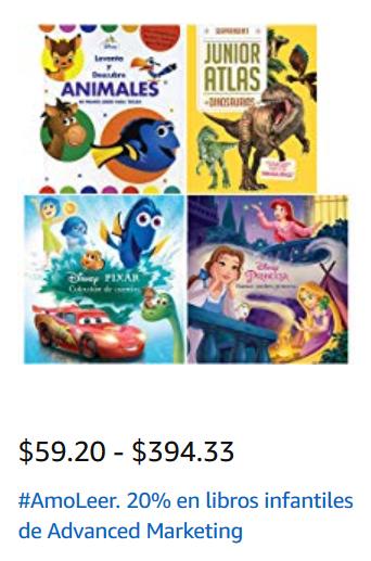 Amazon MX: 20% descuento en libros infantiles y selectos