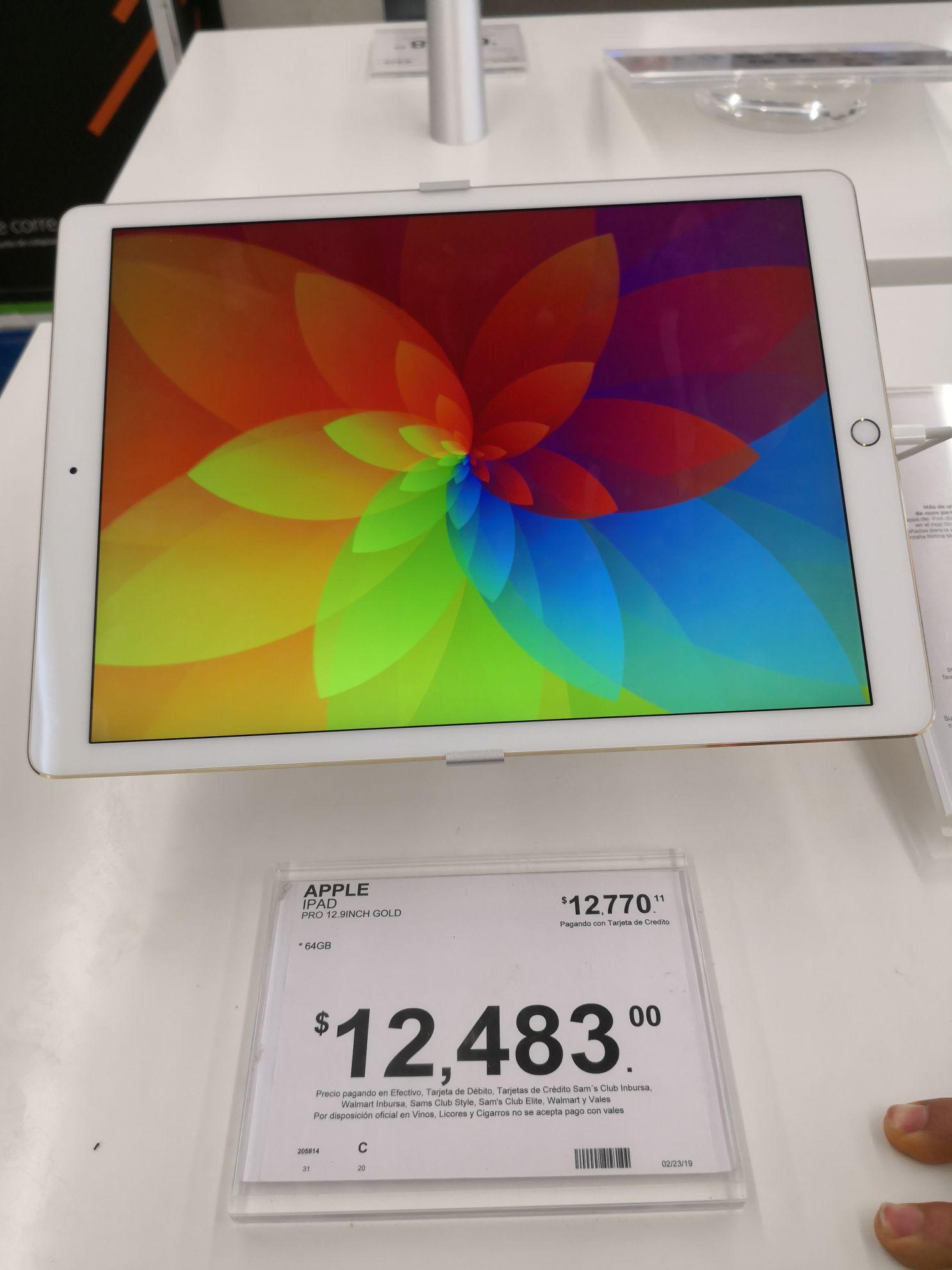 """Sam's Club: iPad pro 12.9"""" 64gb"""