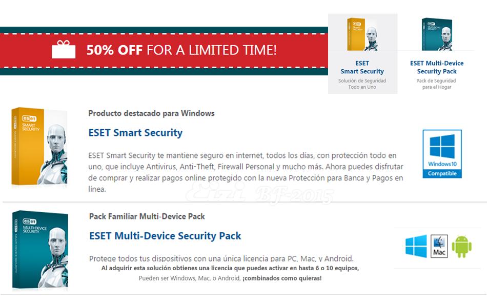 ESET Smart Security al 50% por tiempo limitado :: Antivirus