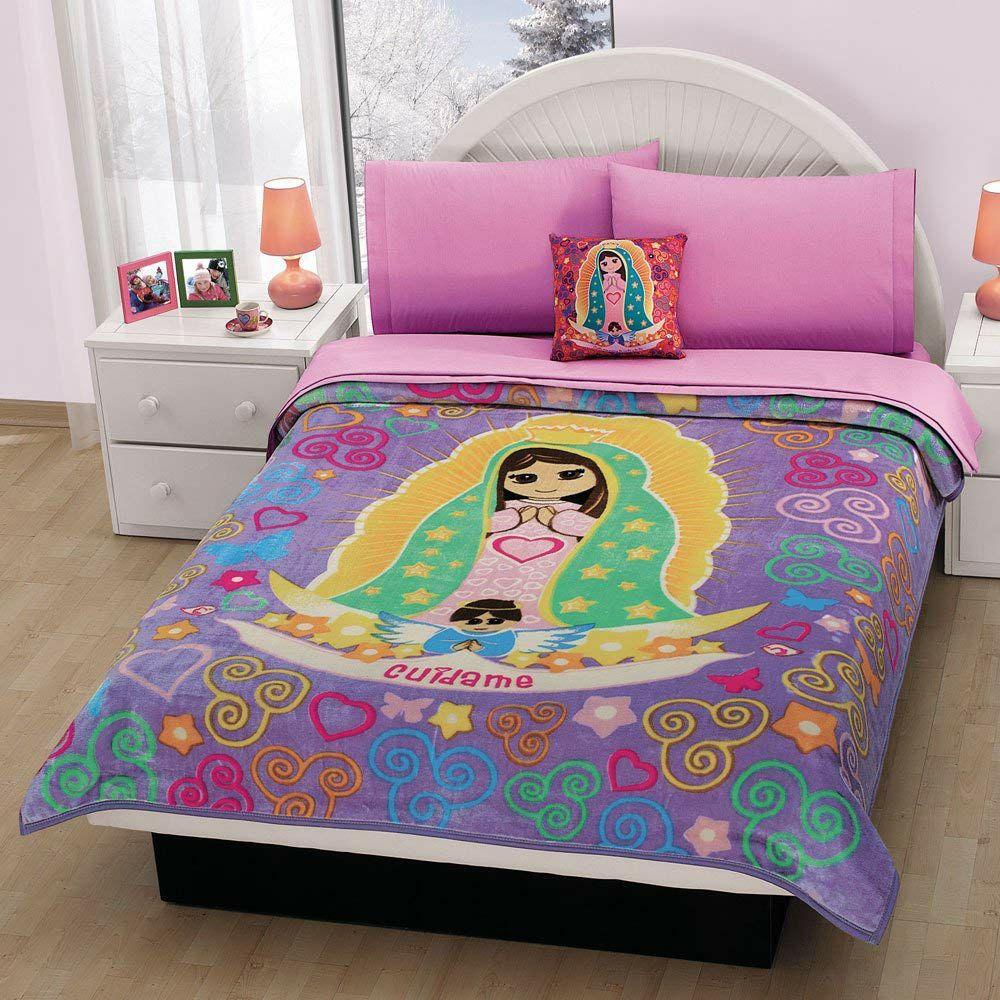 Amazon: concord Cobertor Invernal Plus Mi Dulce Virgen, Color Morado, Individual