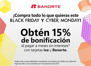 BLACK FRIDAY 15% BONIFICACIÓN EN AMAZON MX CON TDC BANORTE