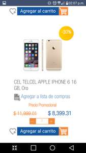 Chedraui Online: iPhone 6 de 16GB a $8,399