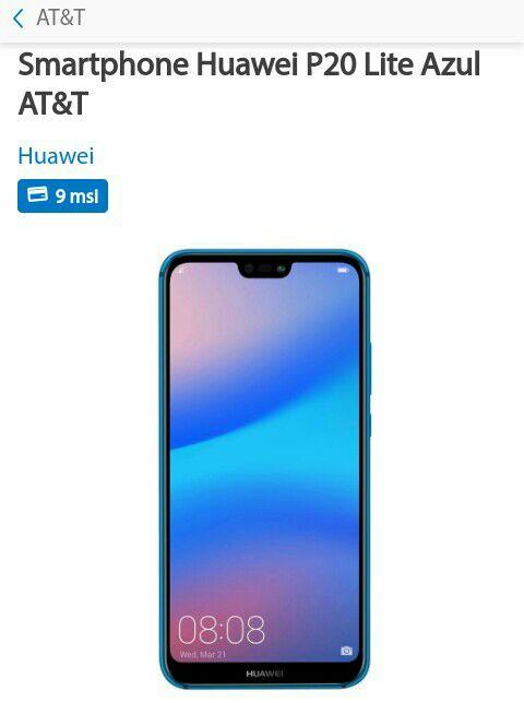 Sam's Club: Huawei P20 Lite azul AT&T