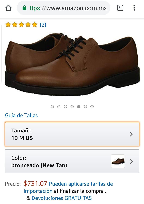 Amazon MX: Zapato Calvin Klein Oxford para Hombre, talla 8 MX (Vendido por Amazon USA)