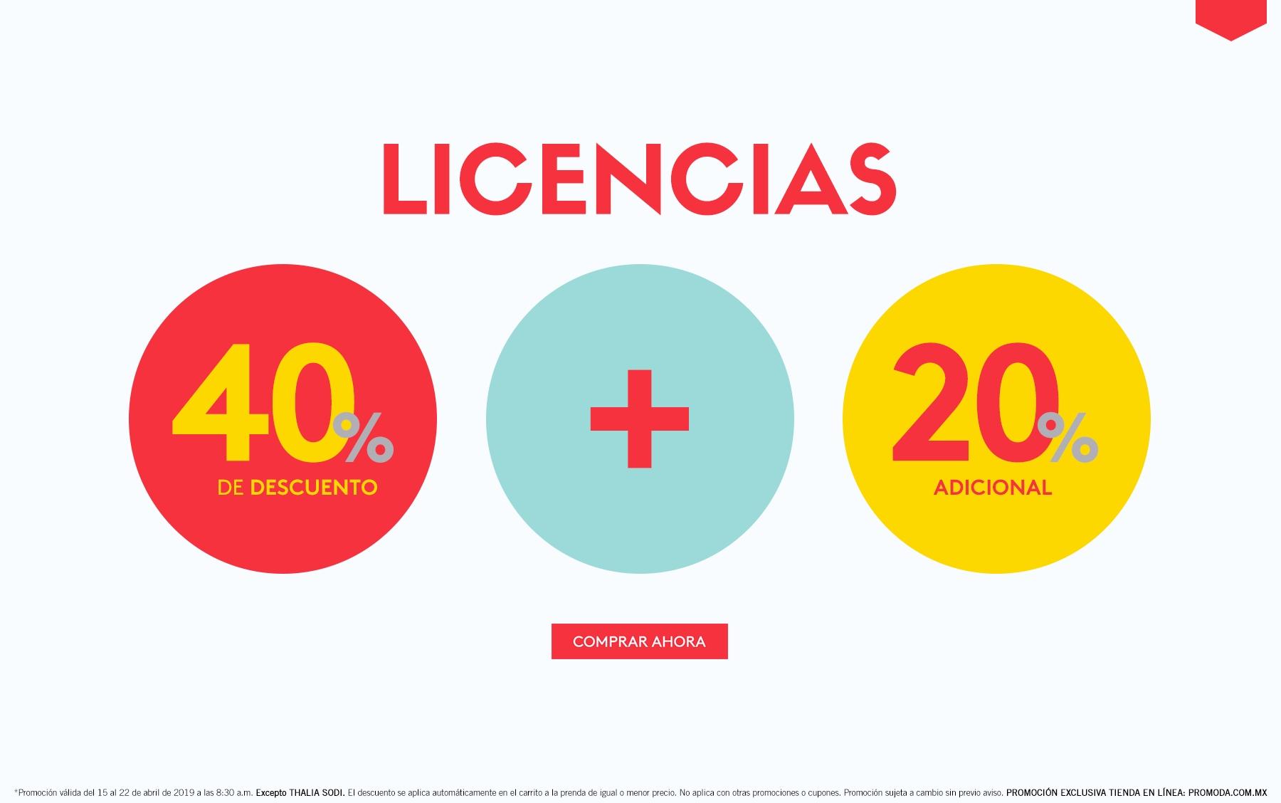 Promoda Outlet: 40% de descuento + 20% adicional en licencias