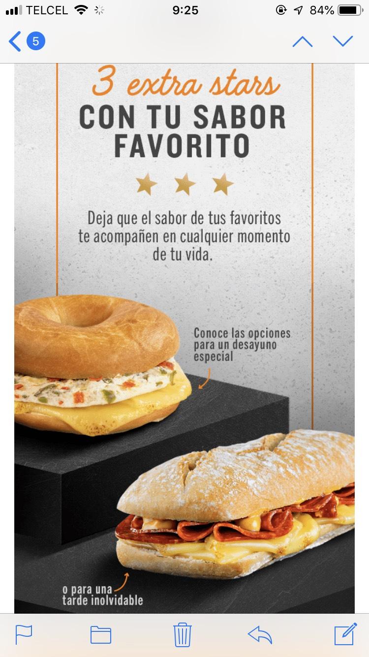 Starbucks: Tres extra stars al comprar opciones de desayuno y/o comida
