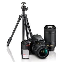 Sanborns: Nikon D3500 18-55/70-300+ Tripié+ SD 16GB