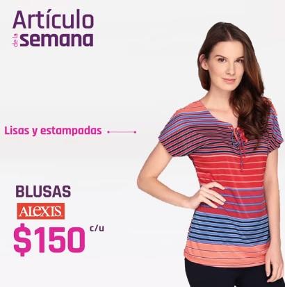 Suburbia: Artículo de la Semana del Lunes 15 al Domingo 21 de Abril: Blusas Alexis lisas y estampadas $150 c/u