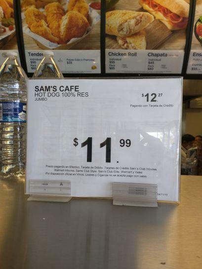 Sam's Club: Hot dog