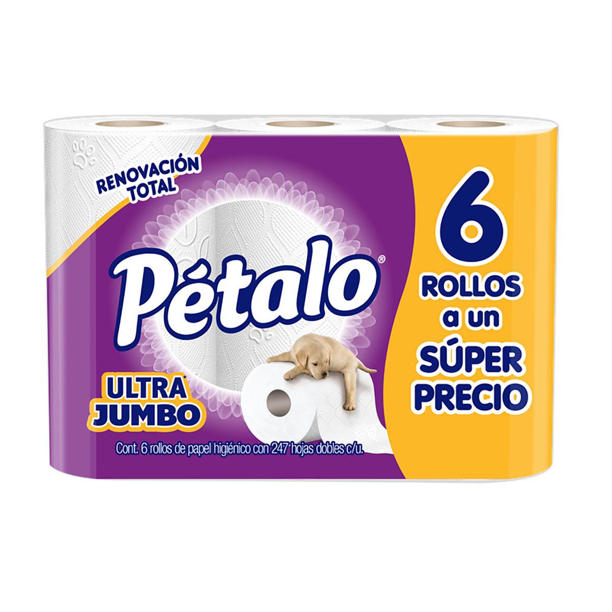 1e4094d648f3b Chedraui en línea  Papel higiénico Petalo Ultra Jumbo de 6 rollos