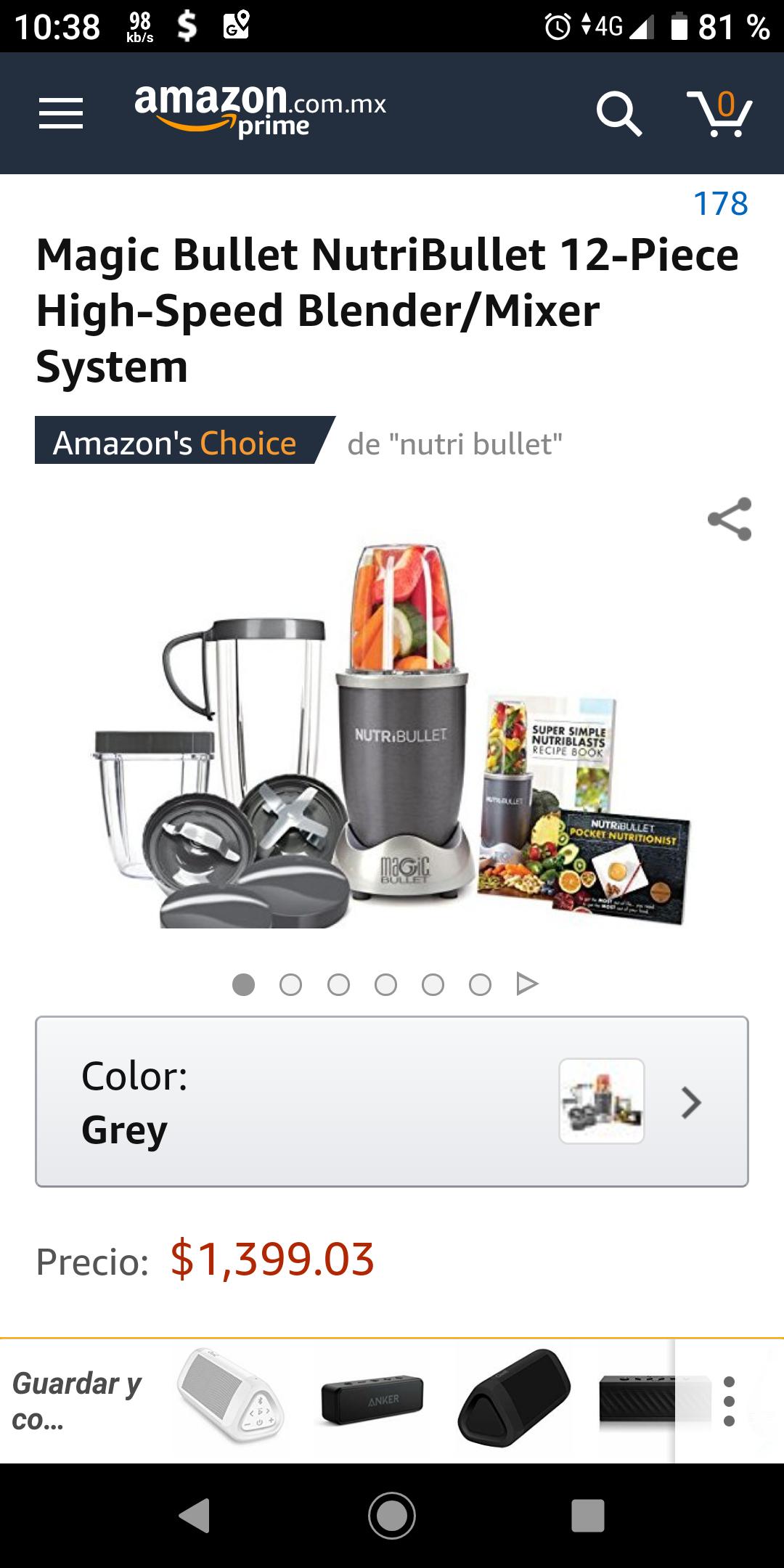Amazon MX: Nutribullet de 12 pzas (Vendido por Amazon USA)
