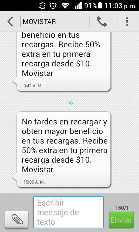 Movistar: 50% adicional en tu primera recarga