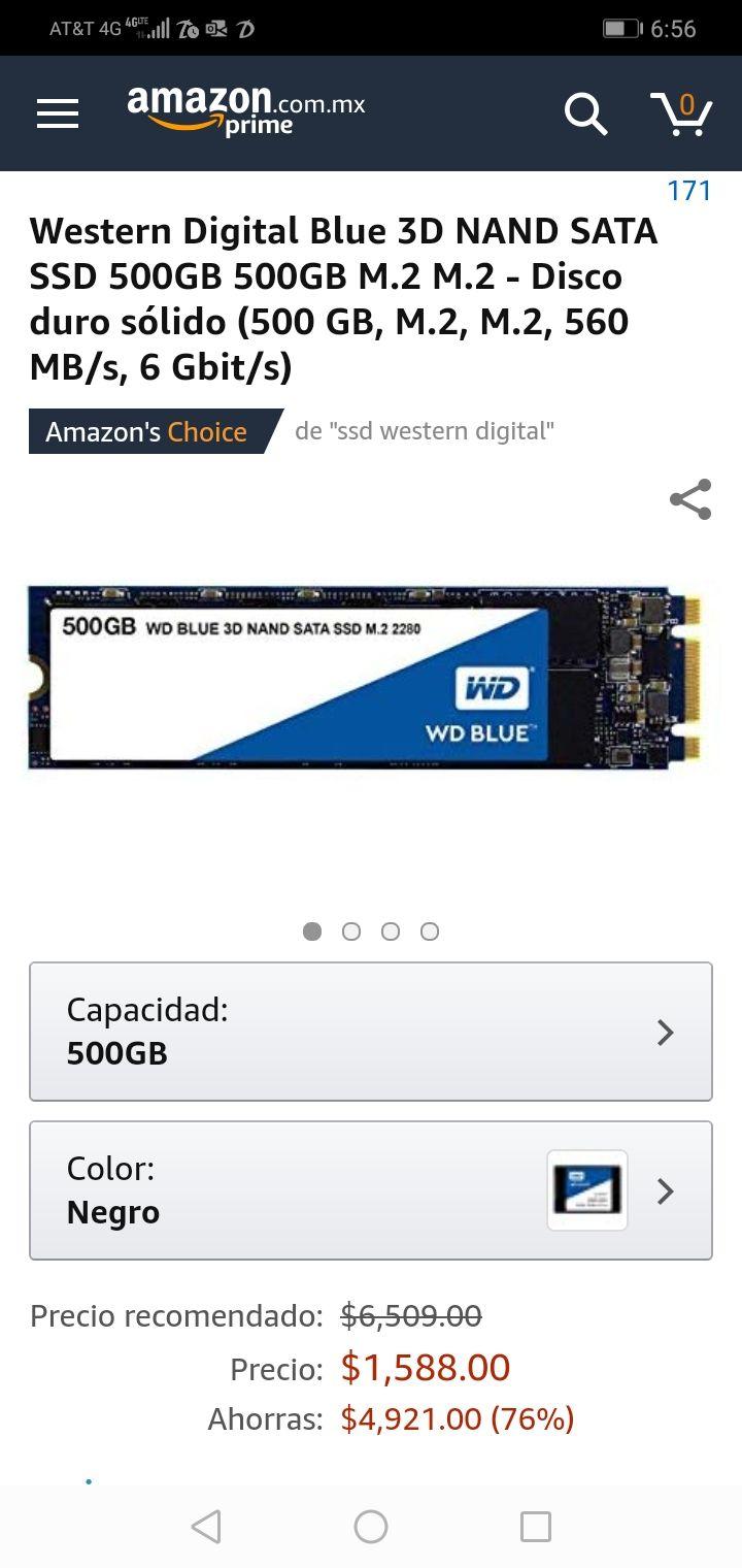 Amazon: Western Digital Blue 3D NAND SATA SSD 500GB