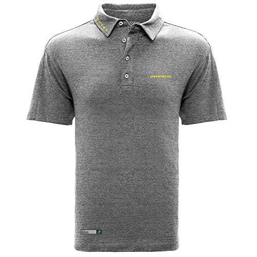 Amazon: Levelwear NCAA - Oregon. Playera polo hombre, talla M, color jaspeado