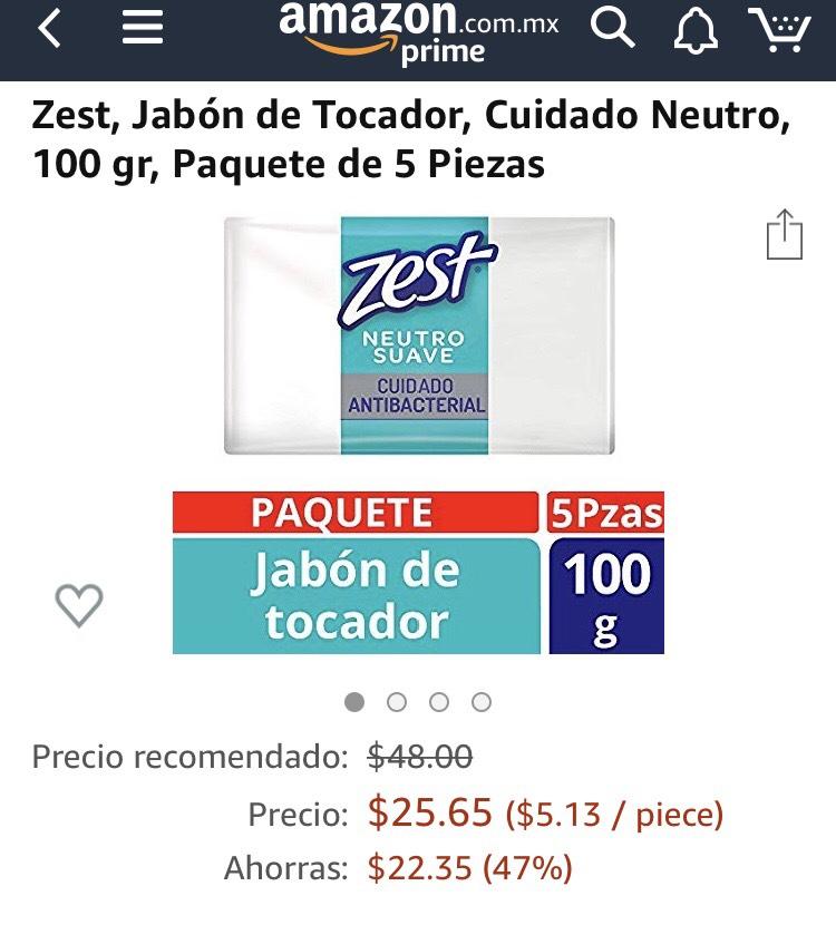 Amazon: Jabón zest a un súper precio