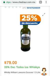 Chedraui online Whisky William Lawsons Escoces 1.5 Litros