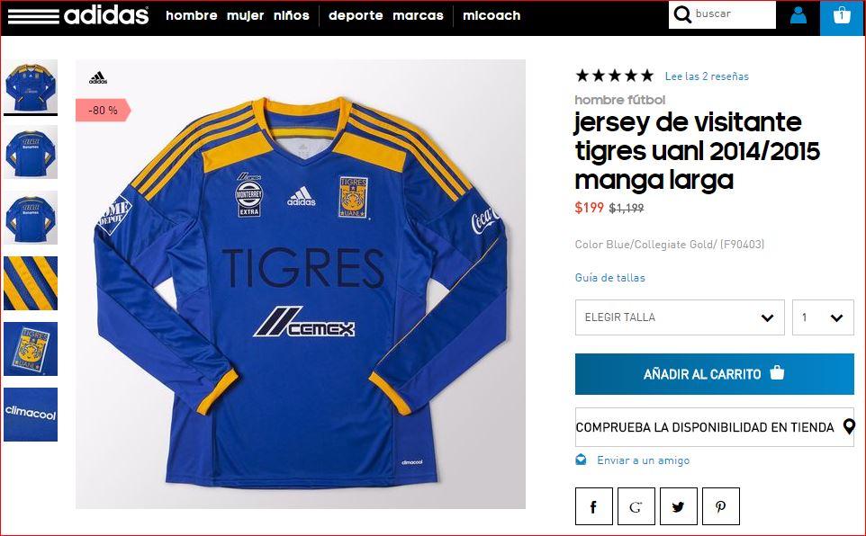 Adidas Playera Tigres Manga Larga