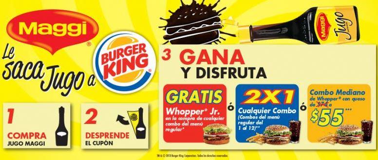 Cupones para Burger King comprando sala Maggi