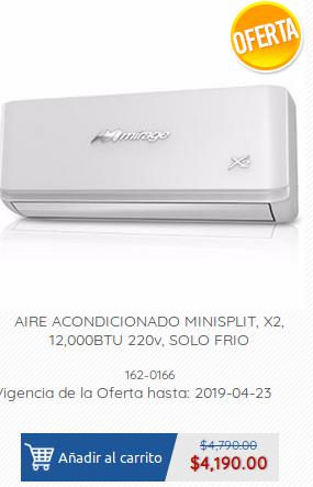 Ofix: Oferta en minisplits mirage X2