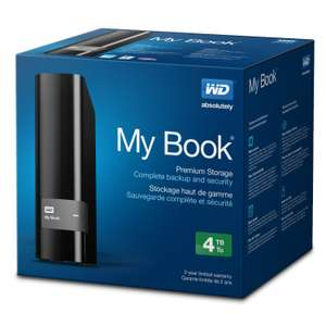AMAZON: WD My Book 4 TB USB 3.0 Hard Drive with Backup