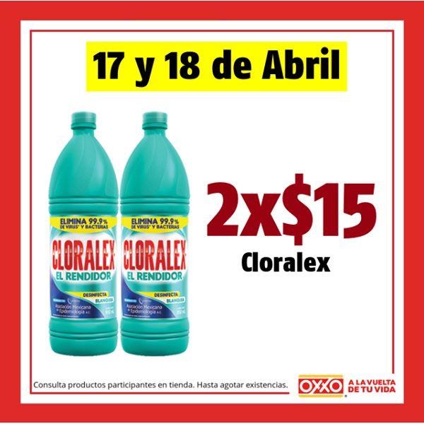 Oxxo: 2x$15 en Cloralex