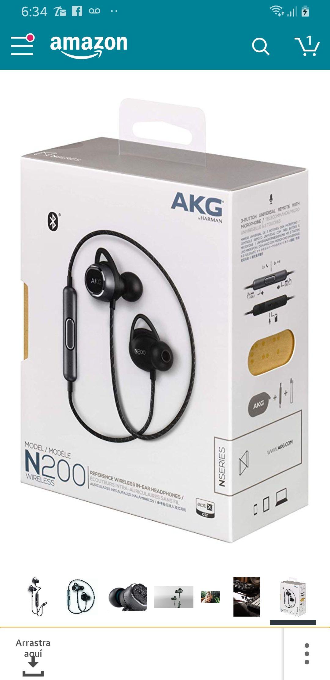 Amazon USA: Audífonos AKG N200