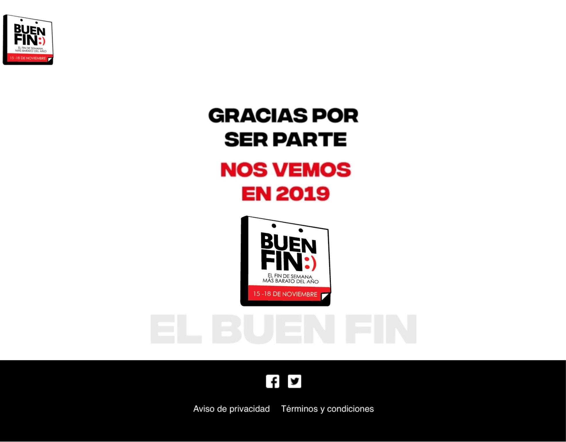 El Buen Fin será del 15 al 18 de Noviembre 2019