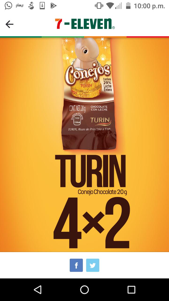7 eleven:Chocolate Turín de conejo 4x2