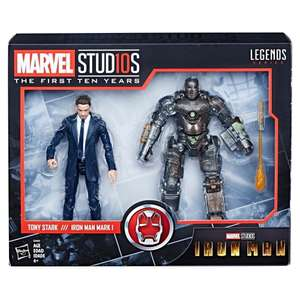 Walmart: Set de Figuras Tony Stark y Iron Man Mark I Marvel 10 Aniversario Legends Series 6 Pulgadas