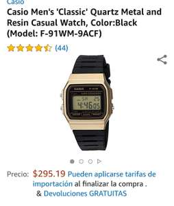 4a92d970bc4f Amazon  Casio Retro F91 Dorado - promodescuentos.com