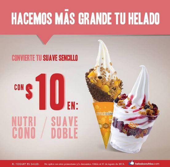 Nutrisa: cambia helado sencillo por doble o Nutricono por $10