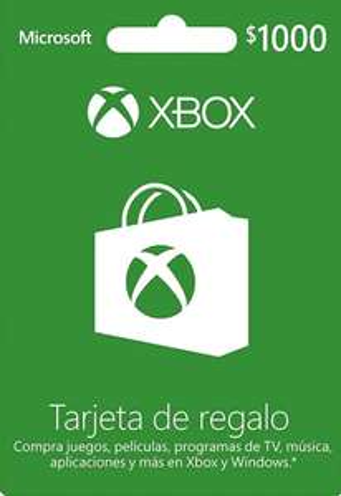 Amazon: Tarjeta de Regalo Xbox $1000 y $300 15% de Descuento
