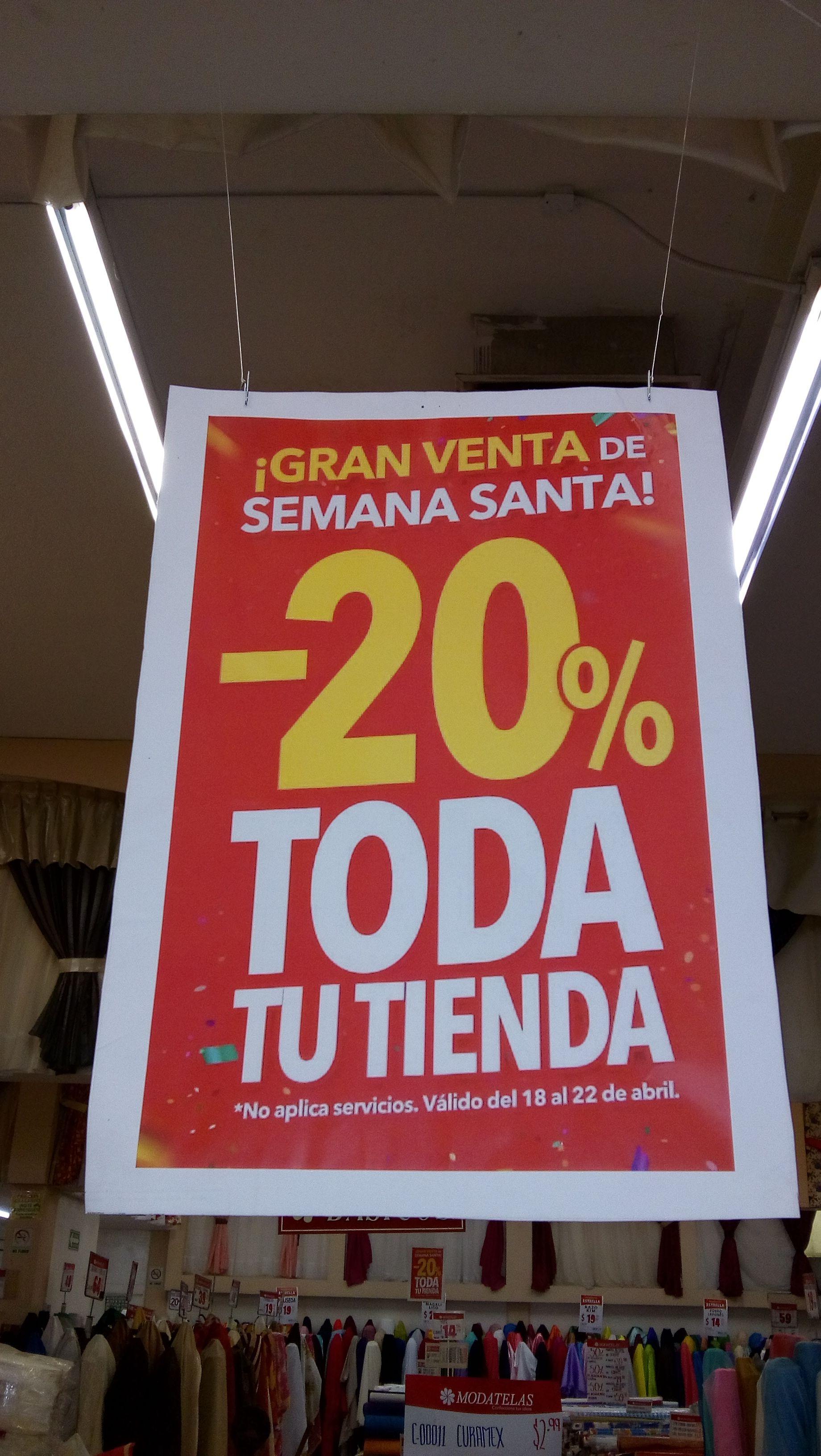 Modatelas: -20% de Descuento en Toda la Tienda
