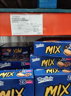 Costco Villahermosa: Surtido mix Marinela  28 pzas