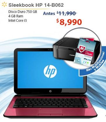 Walmart: Laptop HP con i3 3era generación, multifuncional y antivirus $8,990 y 18 MSI