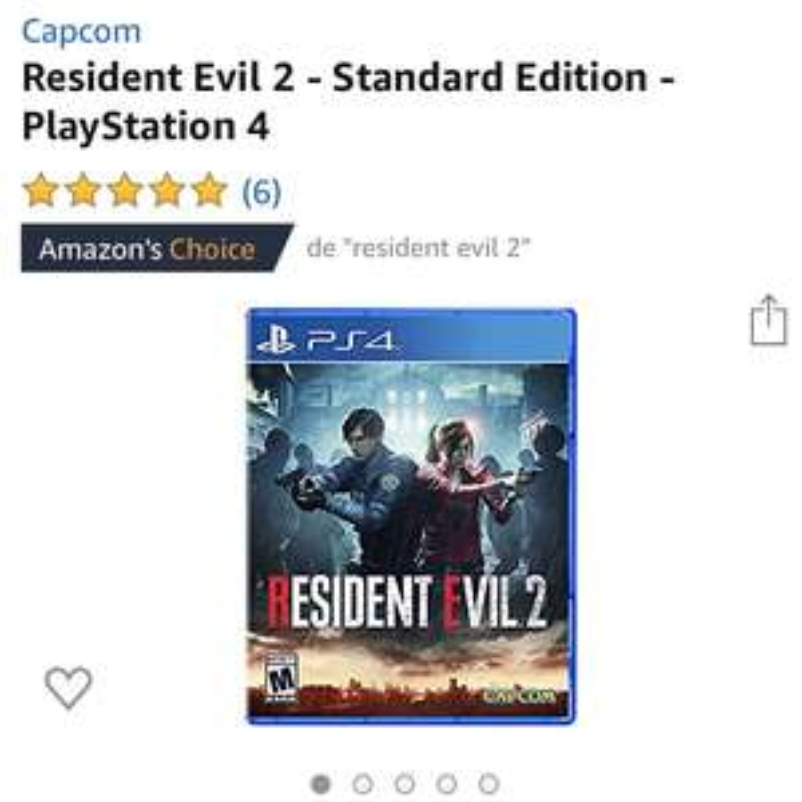 Amazon: Resident Evil 2 | PS4 (Más barato en One)