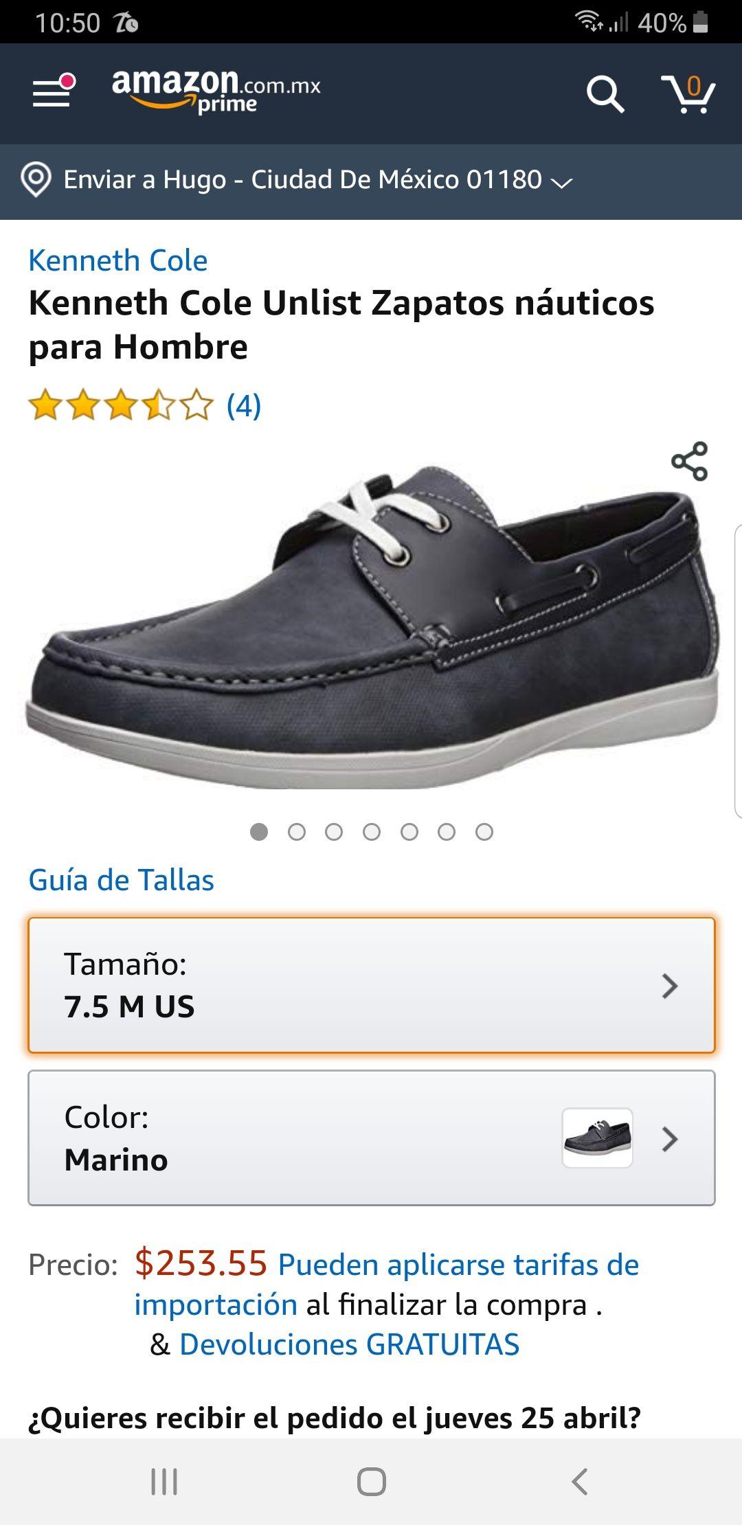 Amazon: Zapatos Nauticos, buen costo