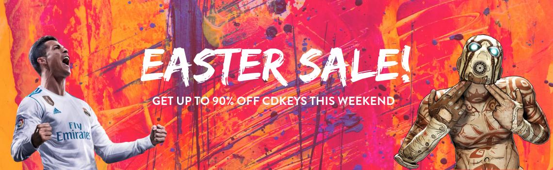CDKEYS: Easter Sale Hasta 90% de descuento.