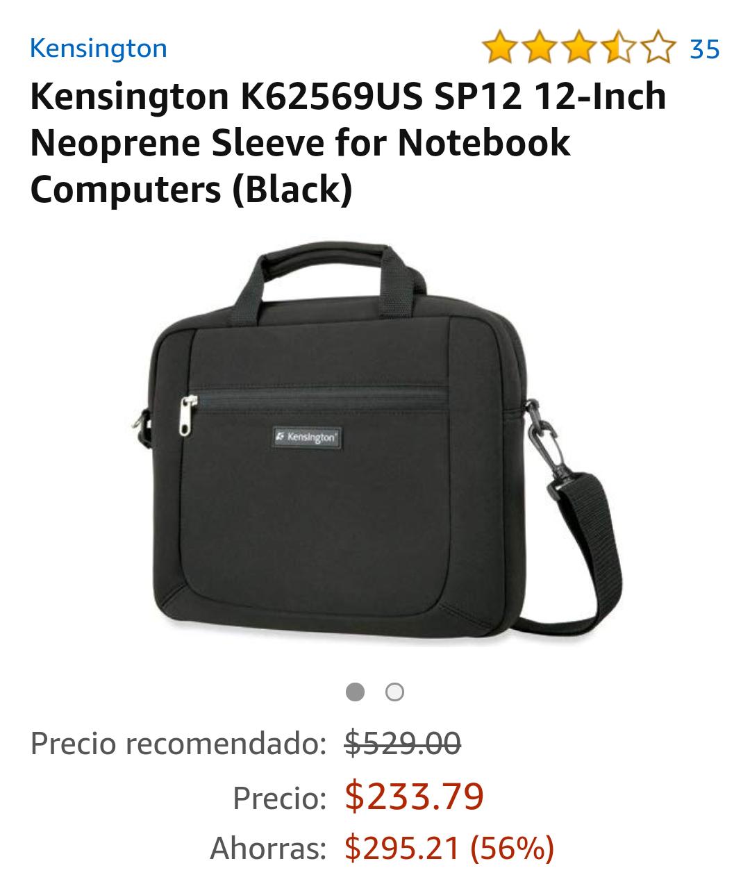 Amazon MX: Mochila mini laptop 12 pulgadas (Vendido por Amazon USA)