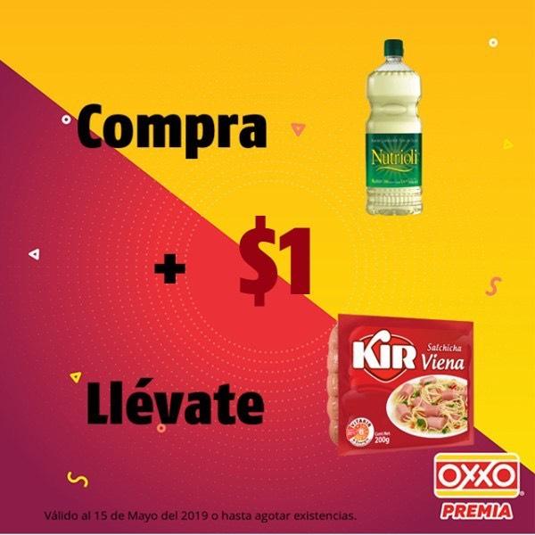 Oxxo: Compra 1 Nutrioli + $1 Salchicha Kir Viena 200grs