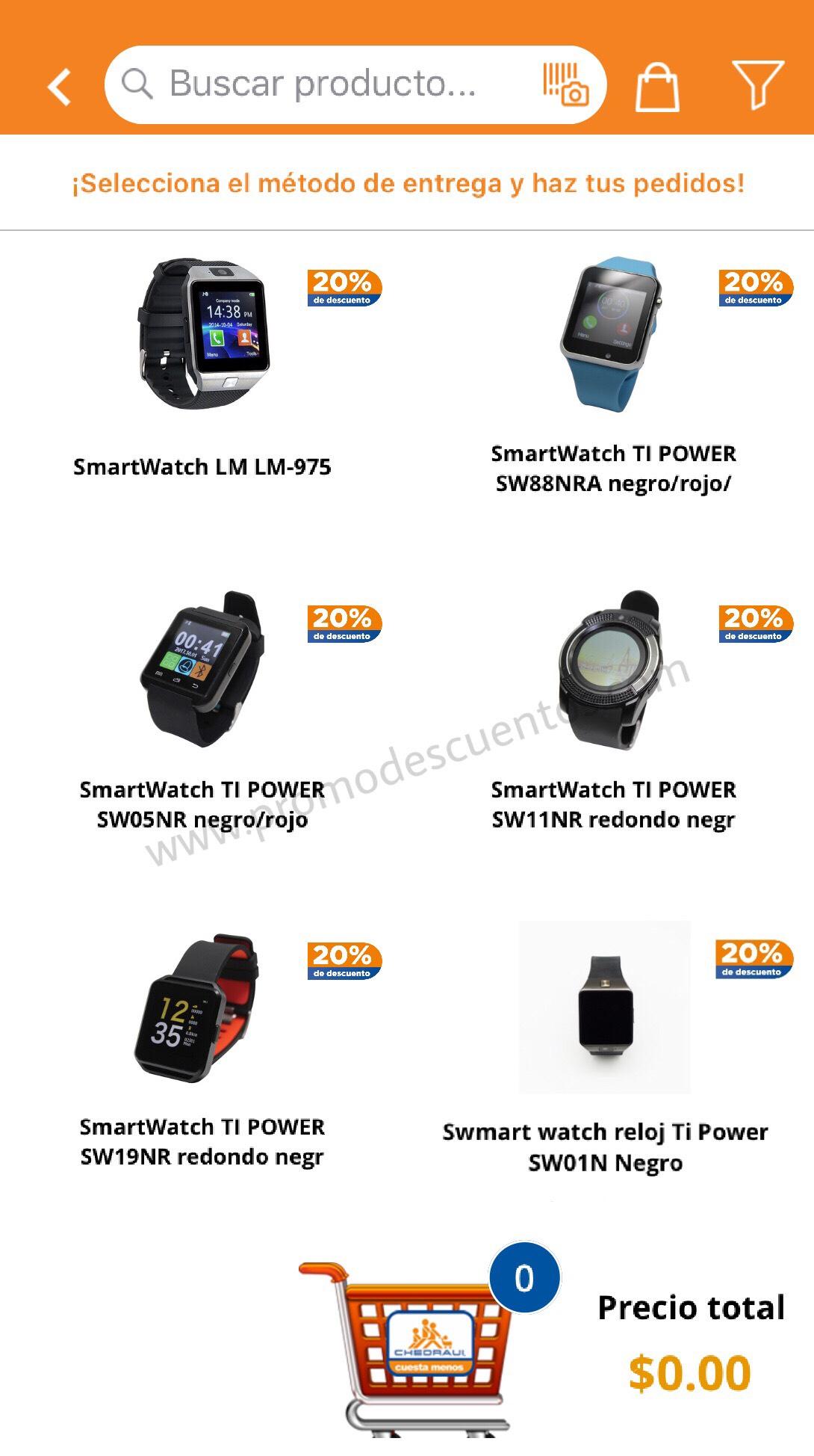 Chedraui: 20% de Descuento en Smartwatch TI Power y LM