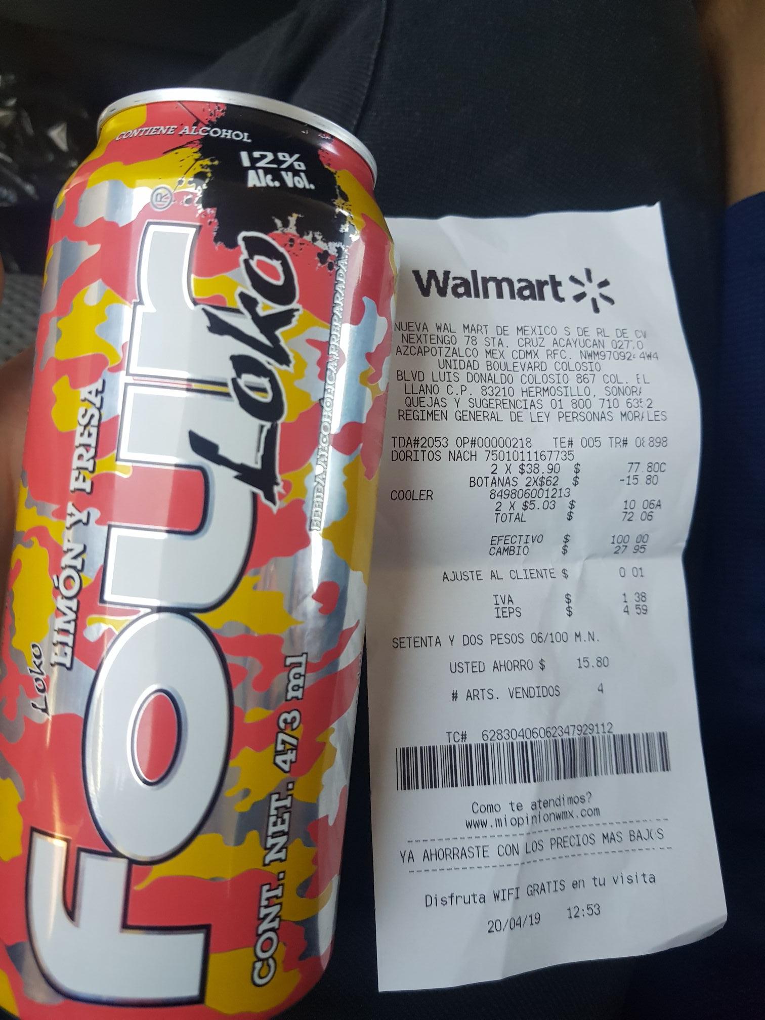 Walmart: Four Loko liquidación