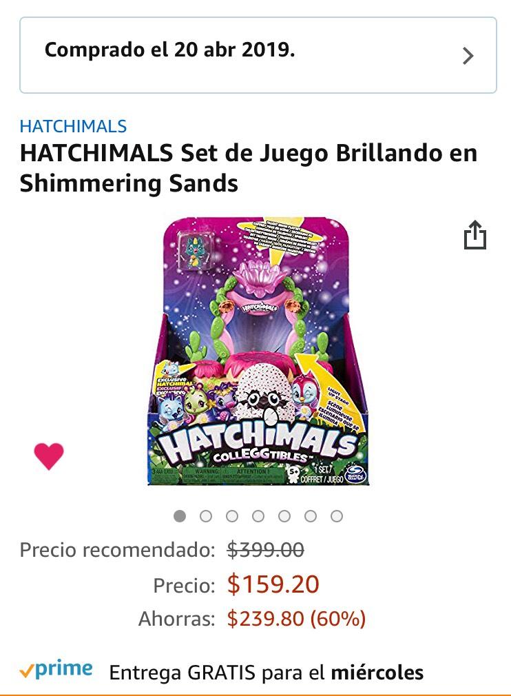 Amazon MX: HATCHIMALS Set de Juego Brillando en Shimmering Sands