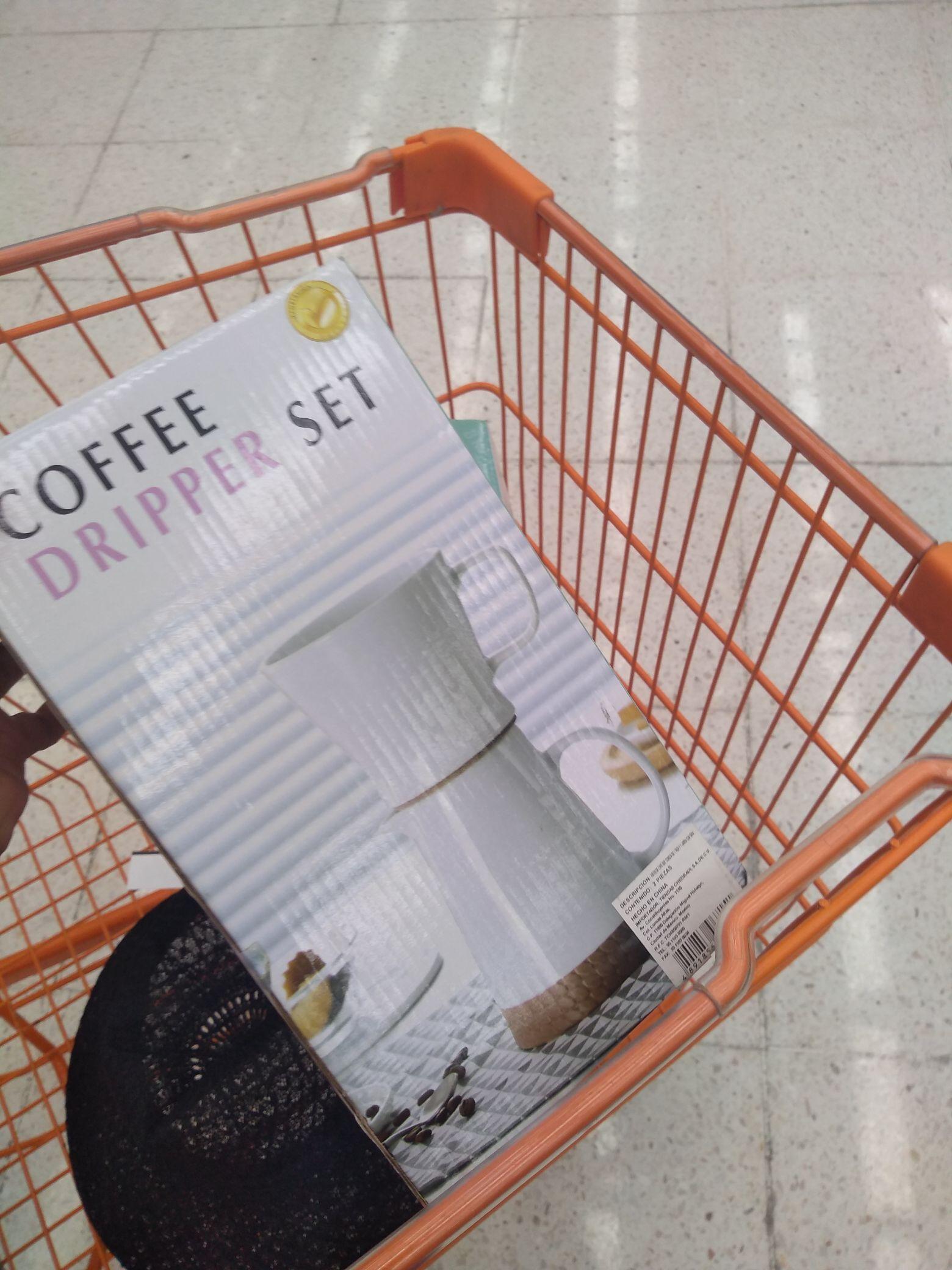 """Chedraui: Juego de taza y jarra """"Coffee Dripper Set"""" e Iberia Protect"""