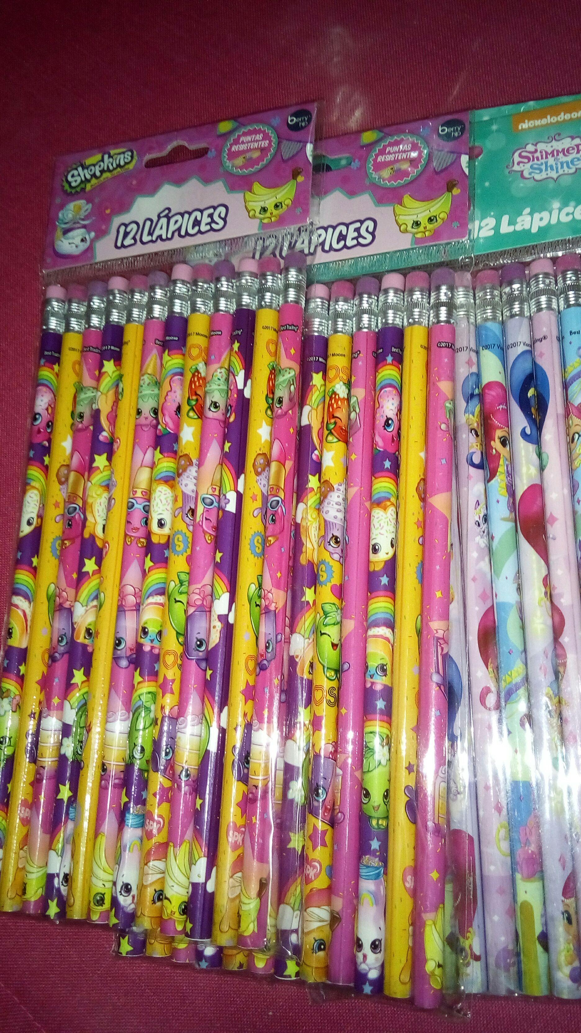 Bodega Aurrerá Huajuapan de Leon: Paquete de 12 lápices decorados. Y más...