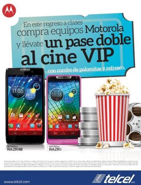 Telcel: Galaxy Note 2 LTE gratis en plan de $499 o Motorola RAZR i en plan de $399 (R9)