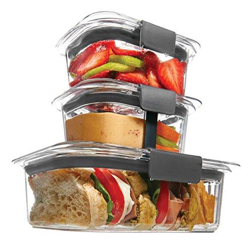 Amazon MX: Contenedores de alimentos Rubbermaid Brilliance, Set para Sandwich/Snack (Vendido por Amazon USA)